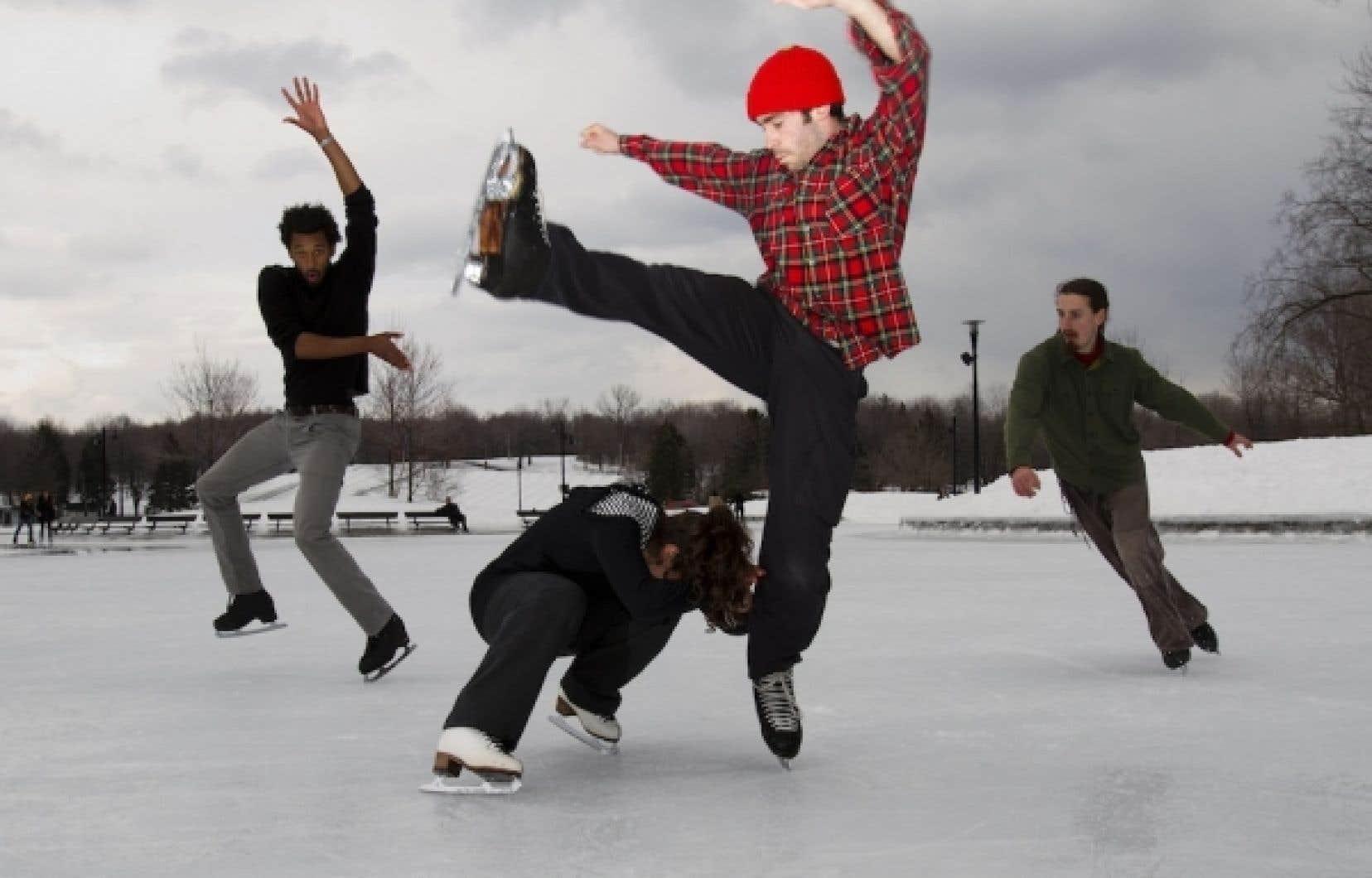 Tous les vendredis depuis le début de février, la troupe Patin libre prend d'assaut la glace du parc La Fontaine (et la patinoire réfrigérée du lac des Castors depuis le redoux) pour montrer aux patineurs tout l'art que permet la glisse sur deux lames.