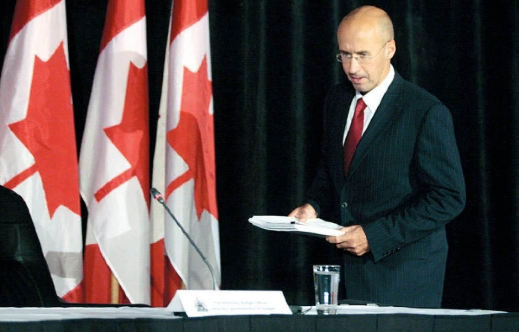 Le directeur parlementaire du budget fédéral, Kevin Page, estime que la fin des peines avec sursis pour certains crimes coûtera 145 millions de dollars par année à Ottawa et aux provinces.<br />