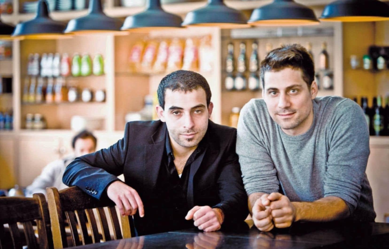 L&rsquo;acteur principal de Rom&eacute;o Onze, Ali Ammar, accompagn&eacute; du r&eacute;alisateur, Ivan Grbovic.<br />