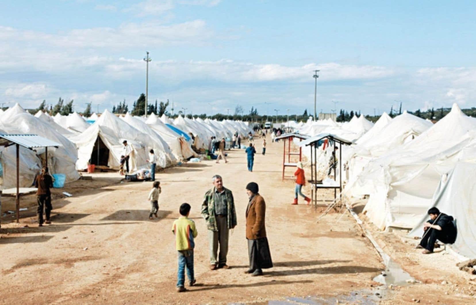 Un camp de réfugiés à Reyhanli, en Turquie<br />