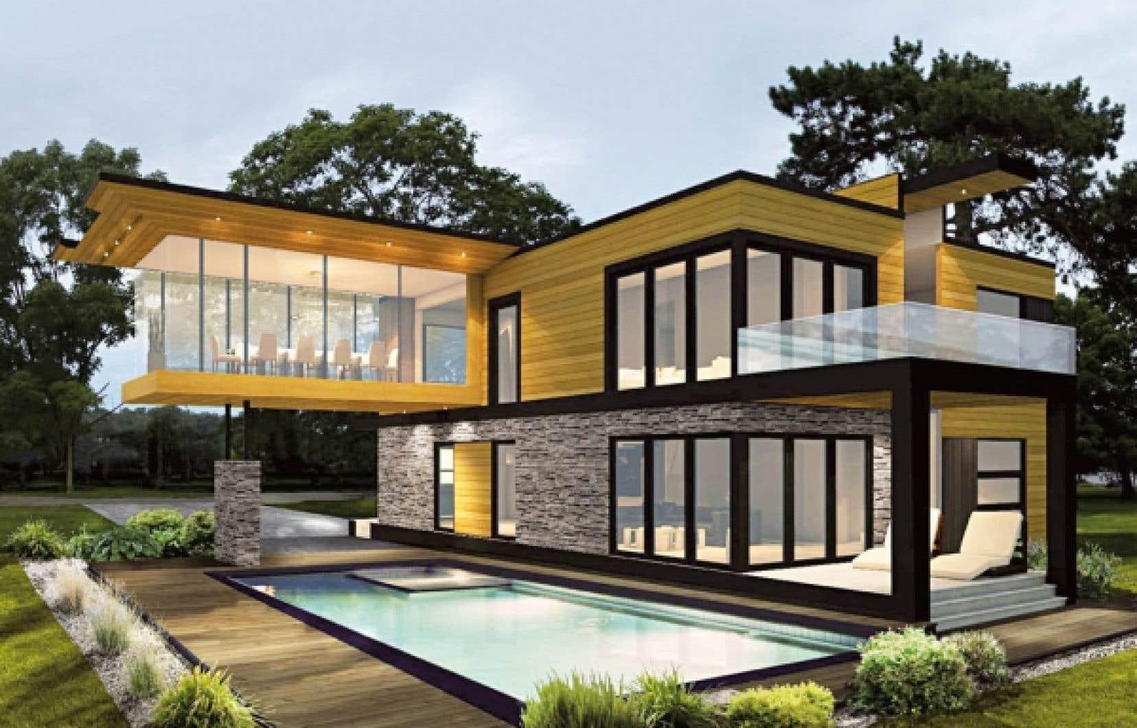 Le clou du Salon est la maison assembl&eacute;e en dix jours seulement. Il s&rsquo;agit cette ann&eacute;e d&rsquo;une maison modulaire aux allures scandinaves, propos&eacute;e par Marquis Concept.<br />