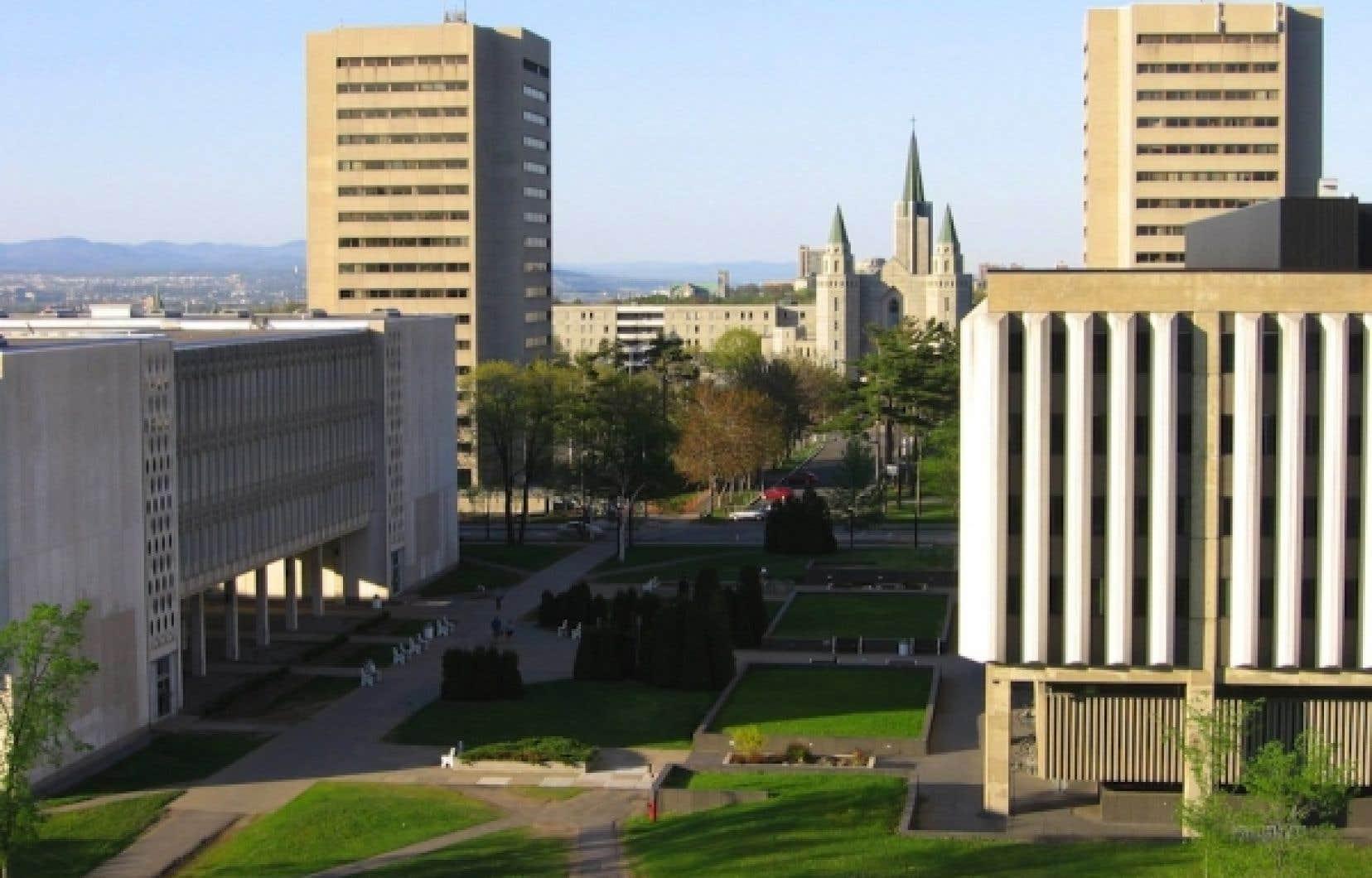 Une partie du campus de l'Université Laval.<br />