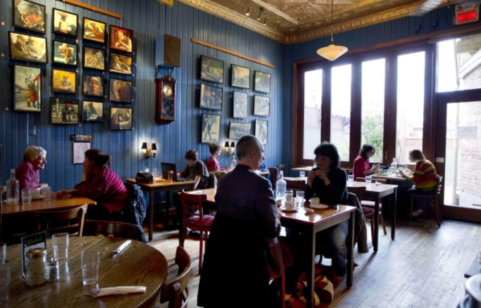 Les Entretiens, à Montréal, un café sans prétention où il fait bon s'arrêter.<br />