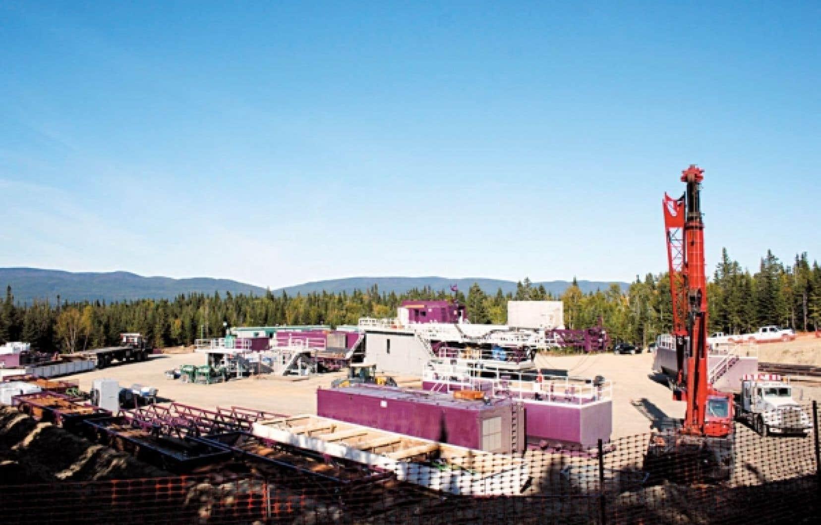 Le puits Haldimand no.1 de la compagnie Pétrolia est situé à 1,5 kilomètre du port de Gaspé.