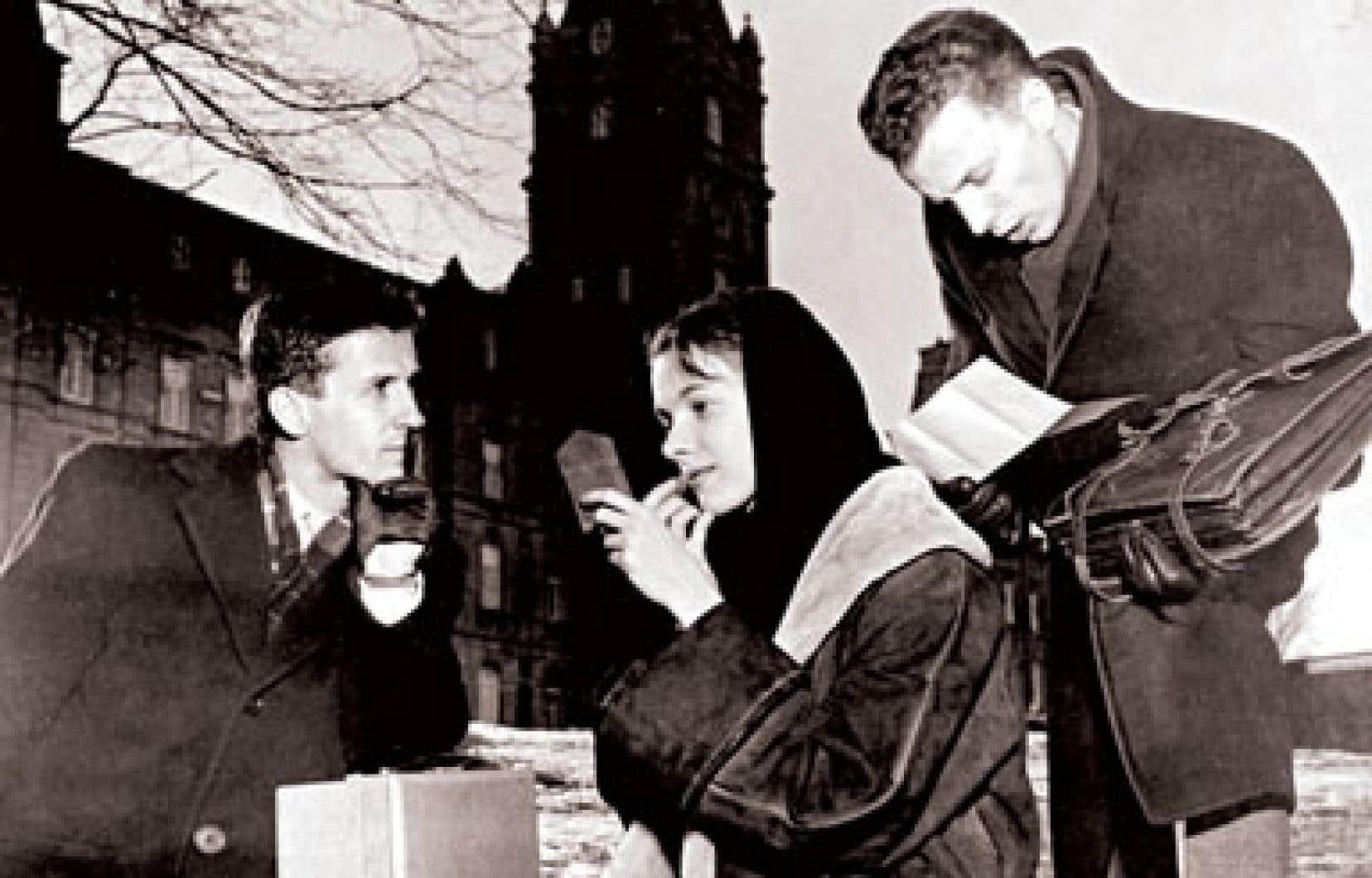 Bruno Meloche, Francine Laurendeau et Jean-Pierre Goyer