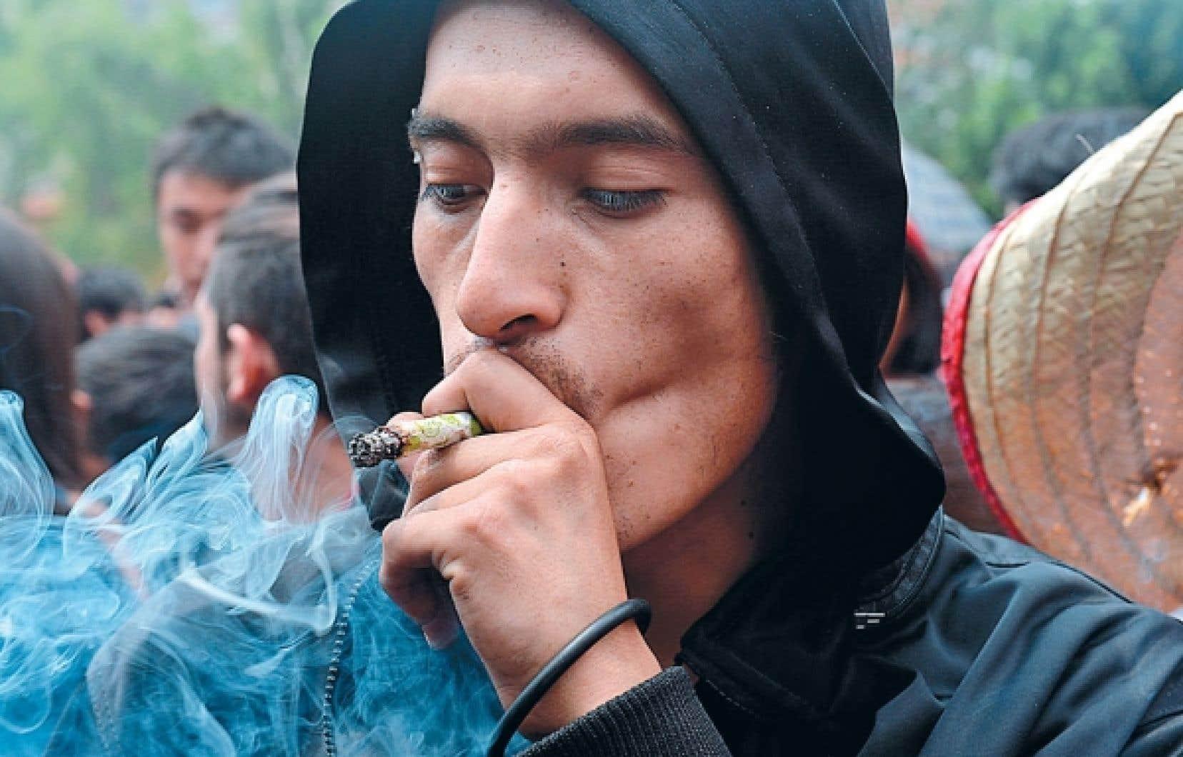 Manifestation la semaine dernière à Mexico pour la légalisation de la marijuana