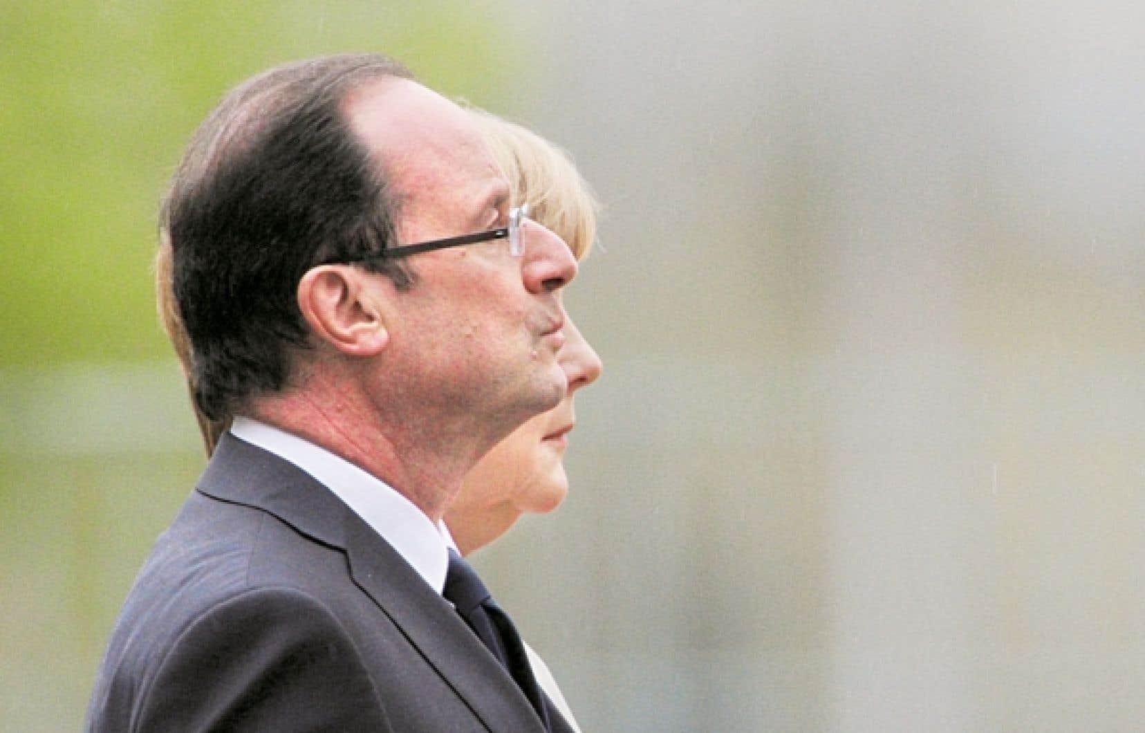 François Hollande et Angela Merkel: le couple franco-allemand est contraint de s'entendre pour relancer l'économie.