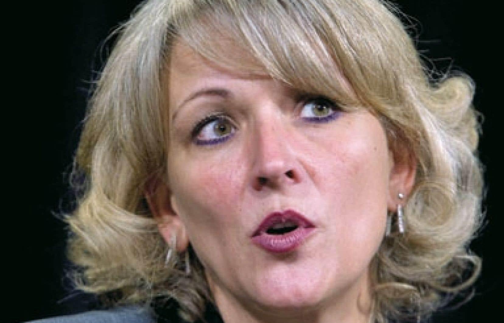 La ministre du Travail, Lise Thériault