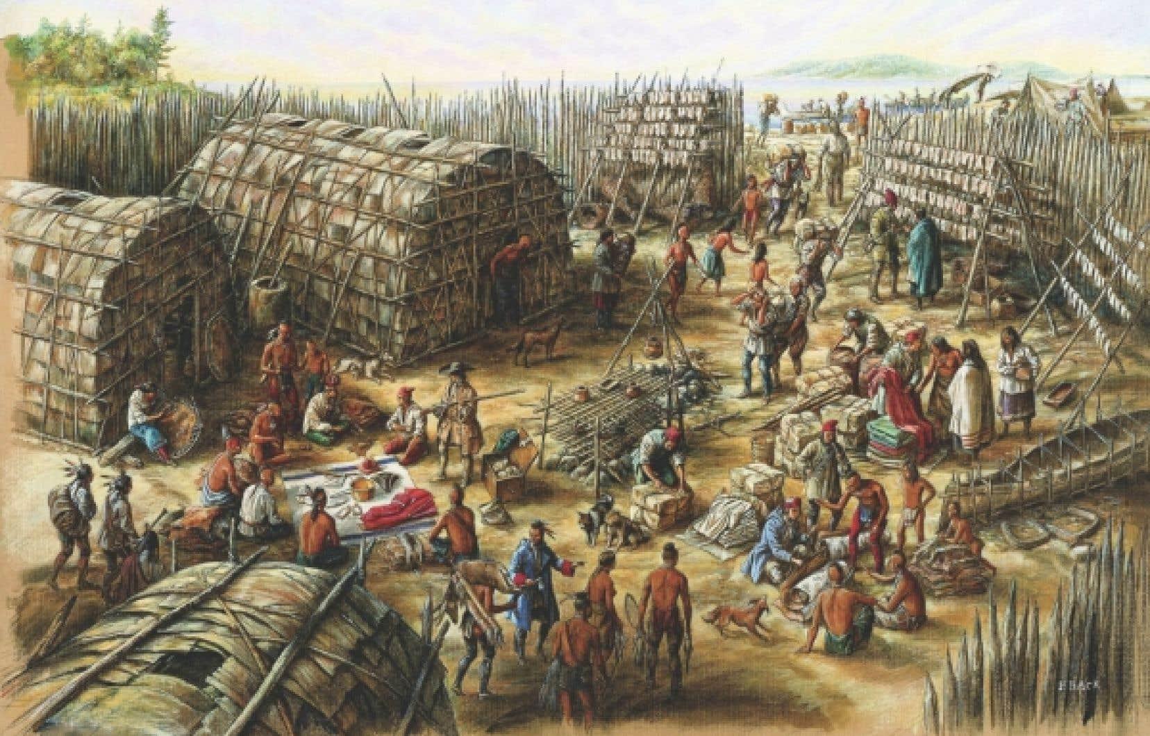 Oeuvre de l'expositionDessiner l'Amérique française : les illustrations de Francis Back