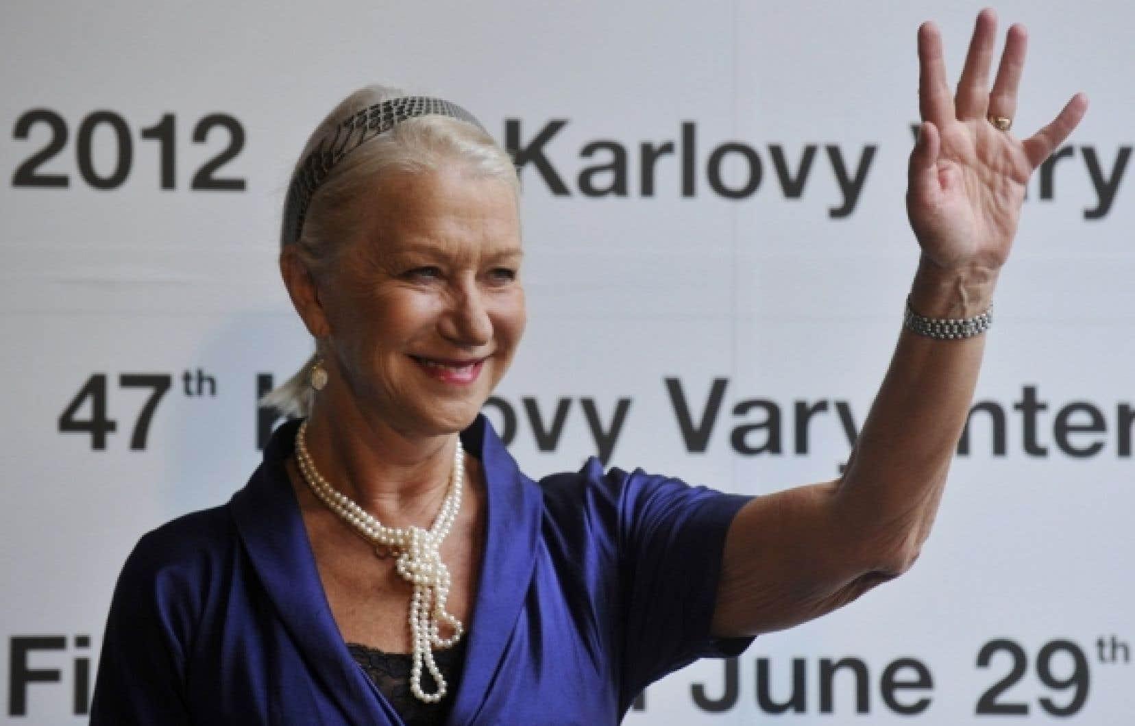 Helen Mirren ce matin au Festival international de Karlovy Vary.