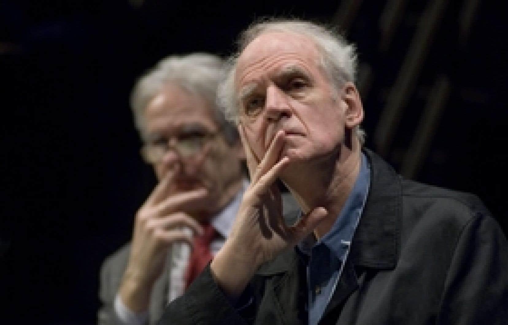 Charles Taylor (à droite) et Gérard Bouchard