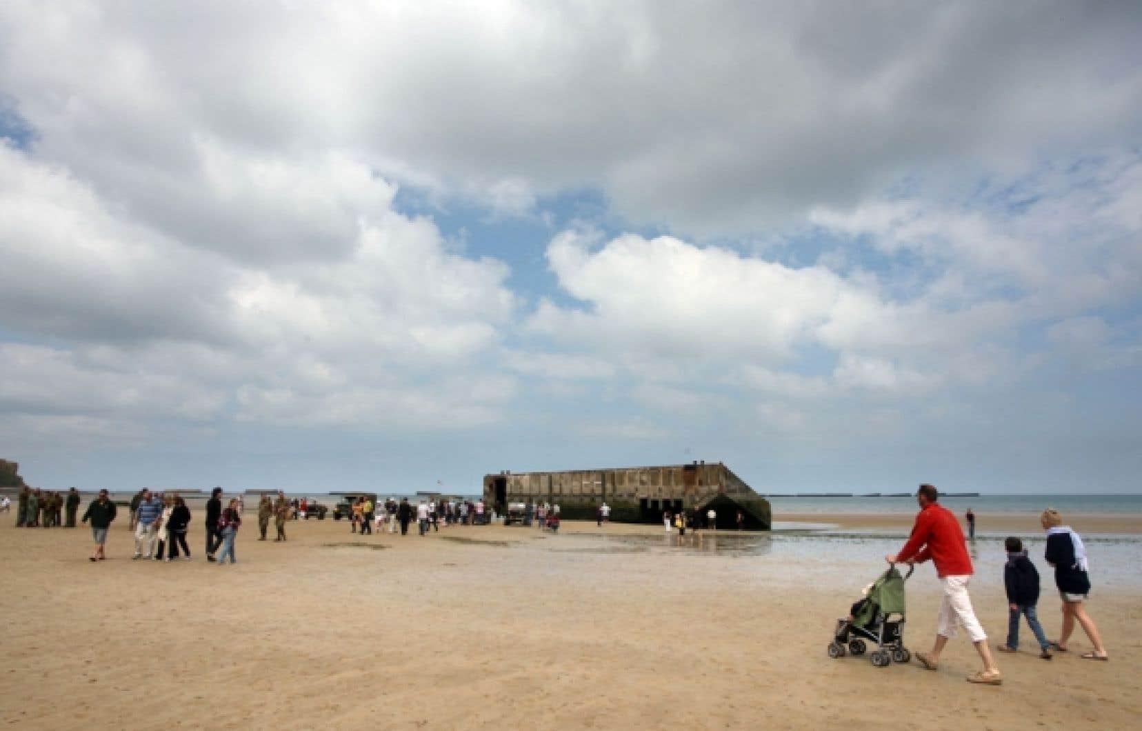 Les plages d'Arromanches, en Normandie
