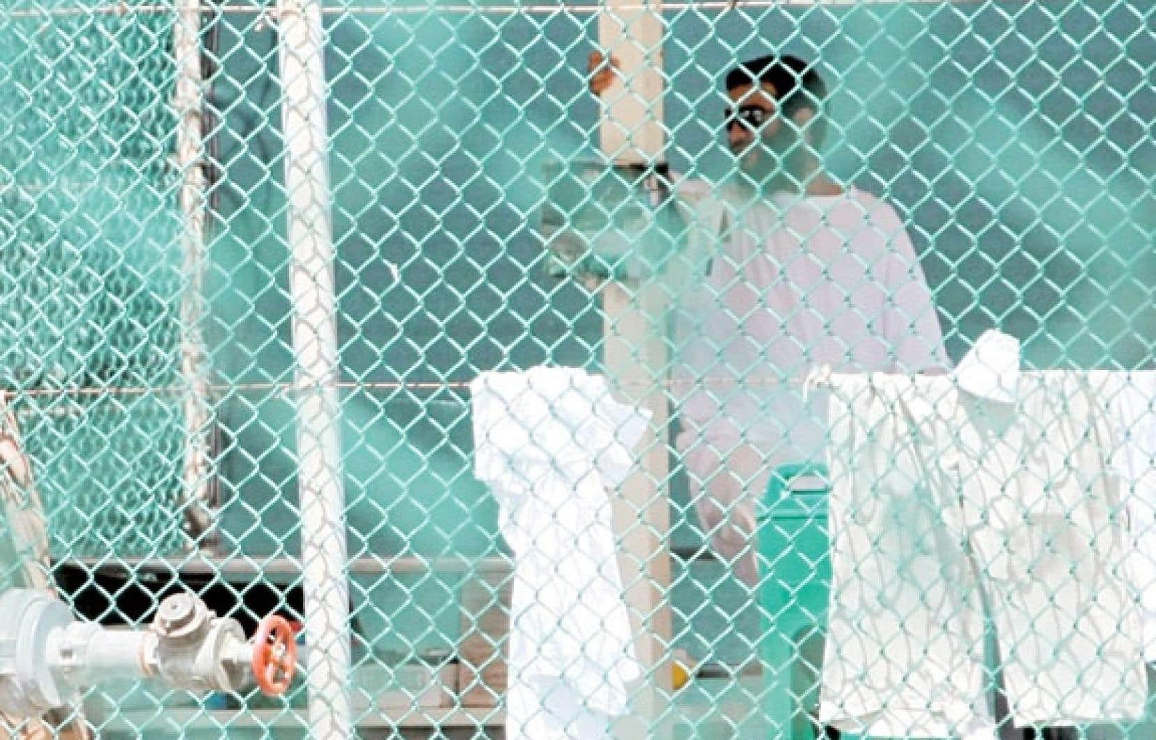 Omar Khadr, à la base militaire de Guantánamo, en octobre 2010.