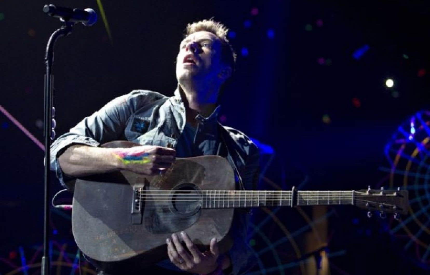 Le chanteur Chris Martin au début de la tournée nord-américaine de Coldplay à Edmonton en avril dernier.