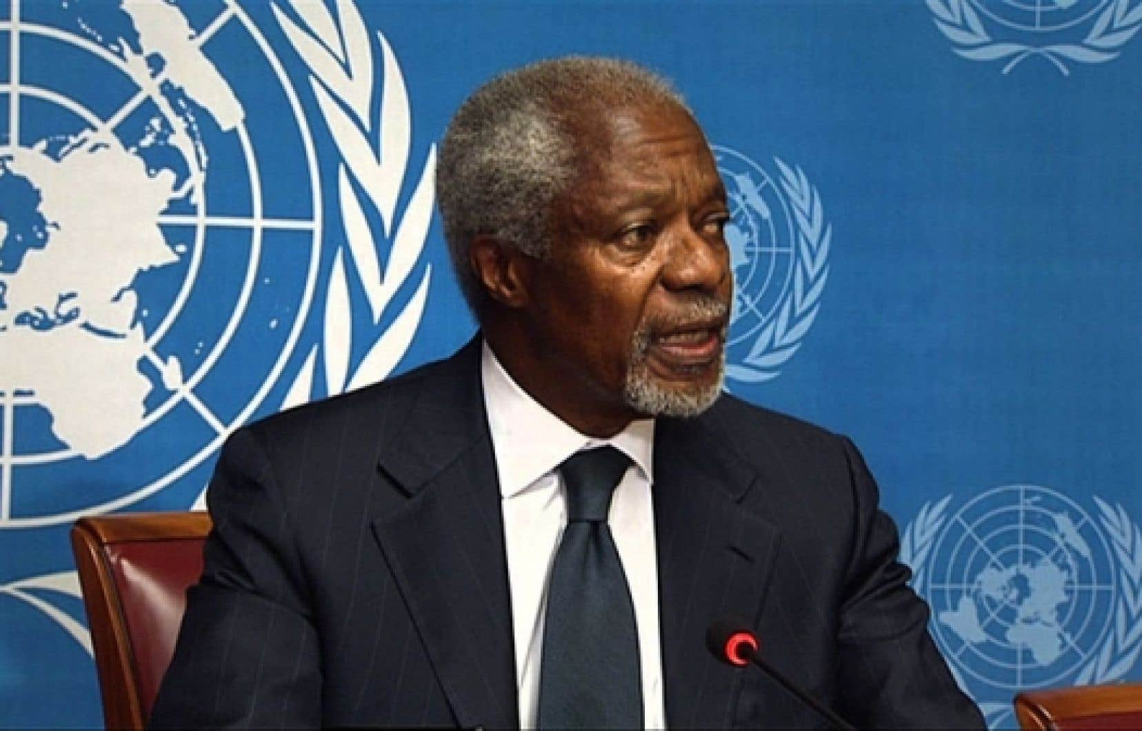 <div> Kofi Annan a reconnu ne pouvoir mener &agrave; bien sa mission.</div>