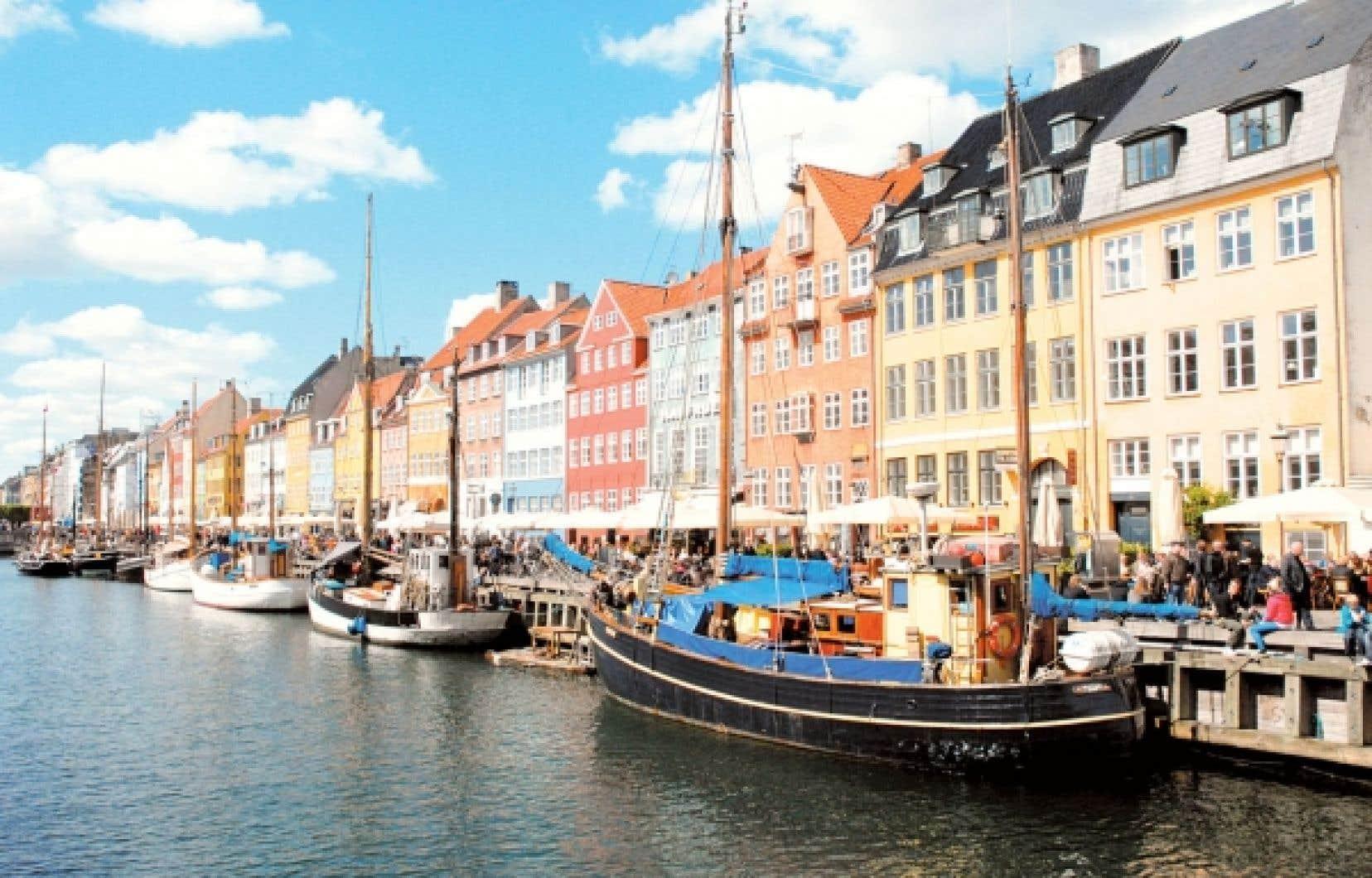 Le canal Nyhavn, mot qui signifie «nouveau port», au centre de la ville.