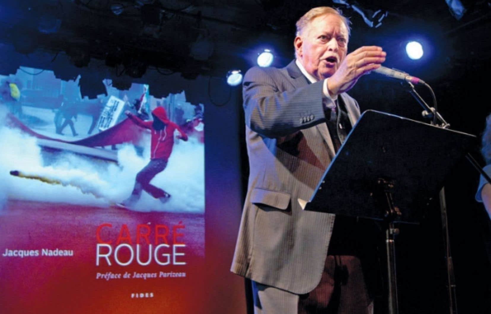 Jacques Parizeau au lancement du livre de Jacques Nadeau au Lion d'or.