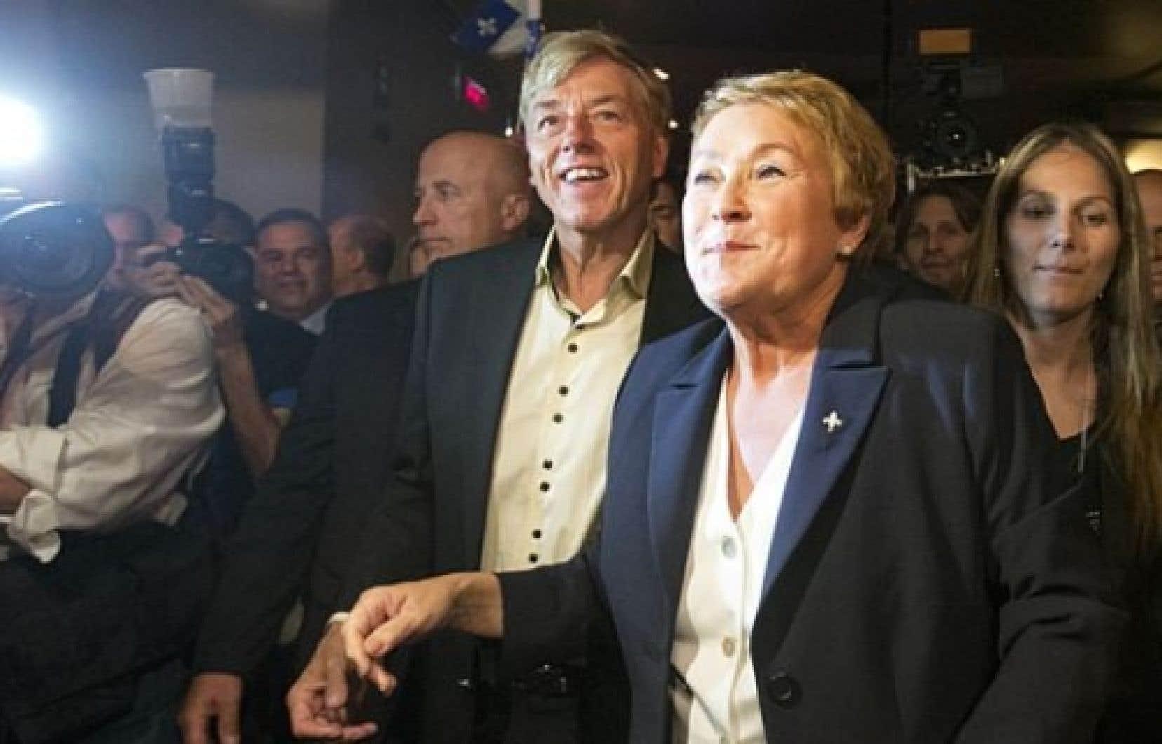 Pauline Marois a son arrivée au Métropolis hier. <br />