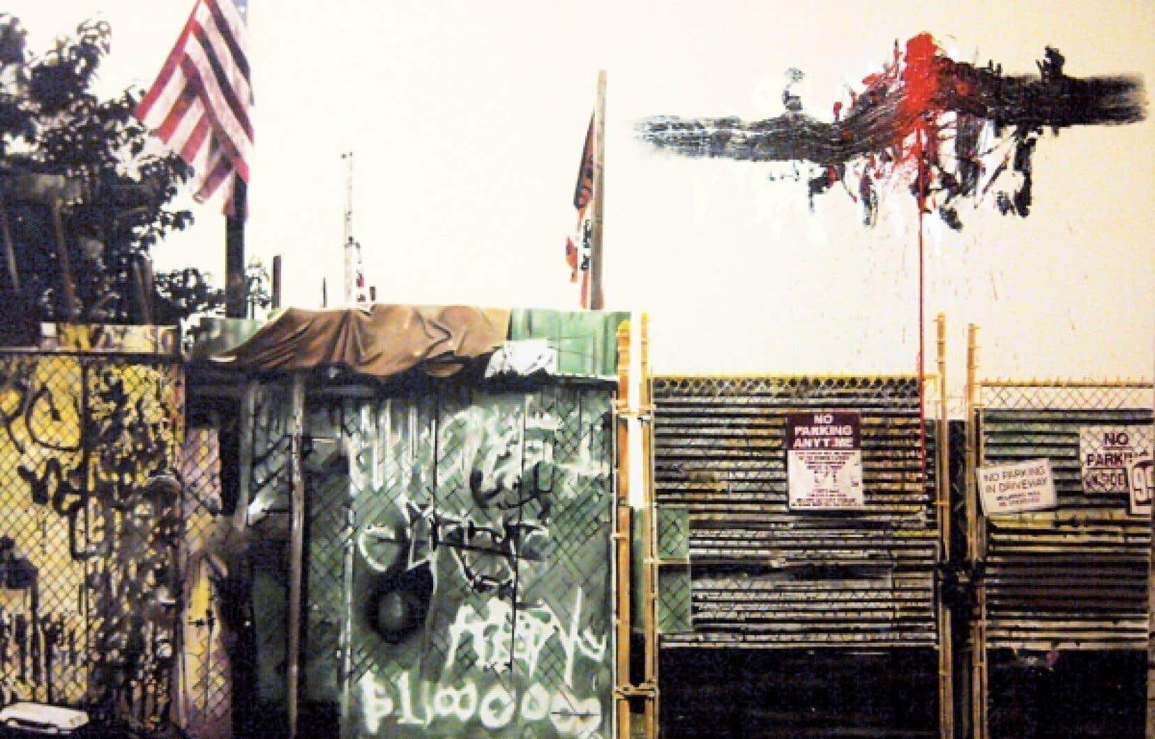 Million Dollar Painting, 2012, huile et fusain sur toile.