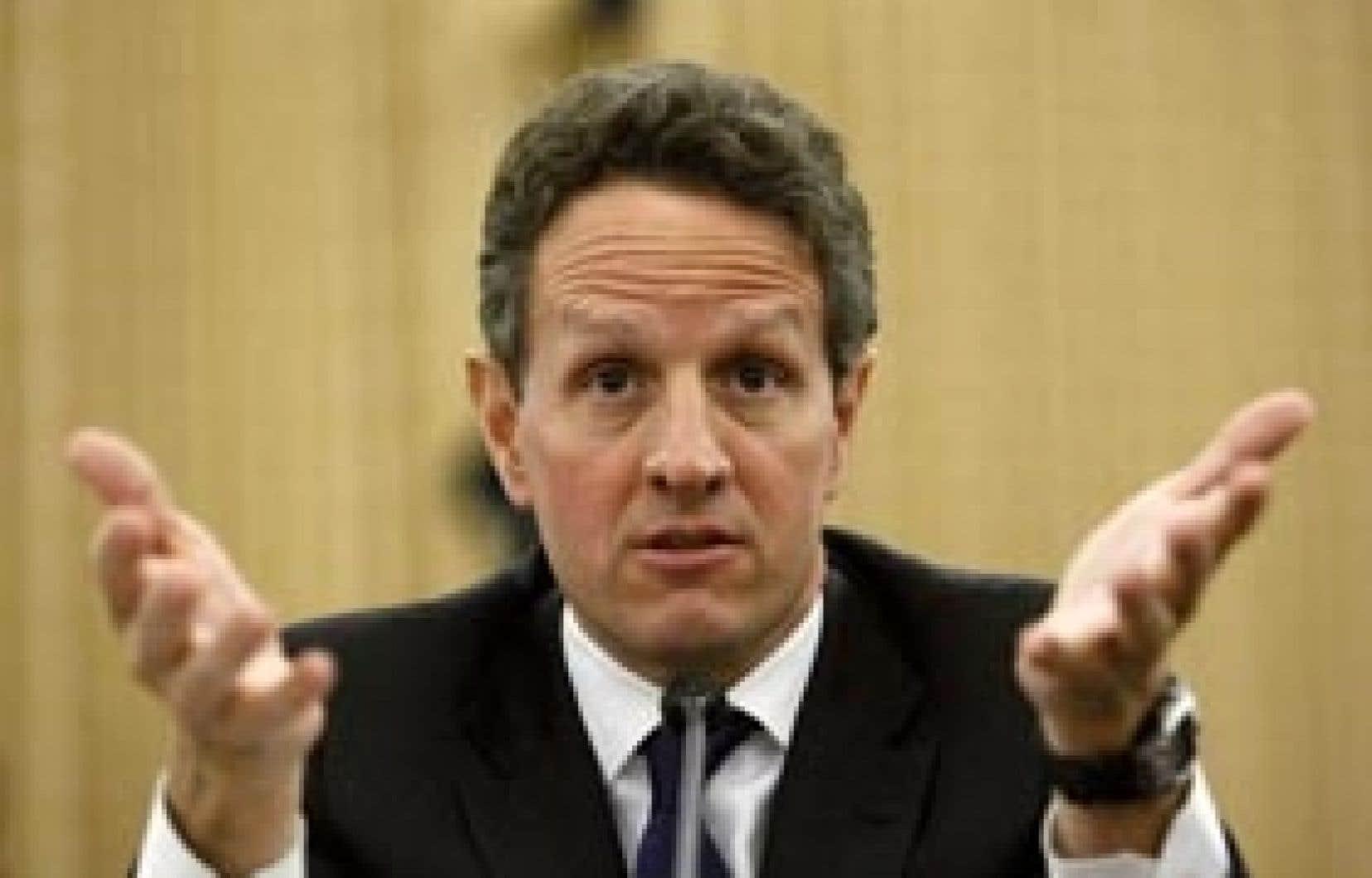 Le secrétaire au Trésor des États-Unis, Timothy Geithner, a précisé que les mesures prévues dans le plan de relance américain «porteront leur effet maximal sur l'économie au second semestre».