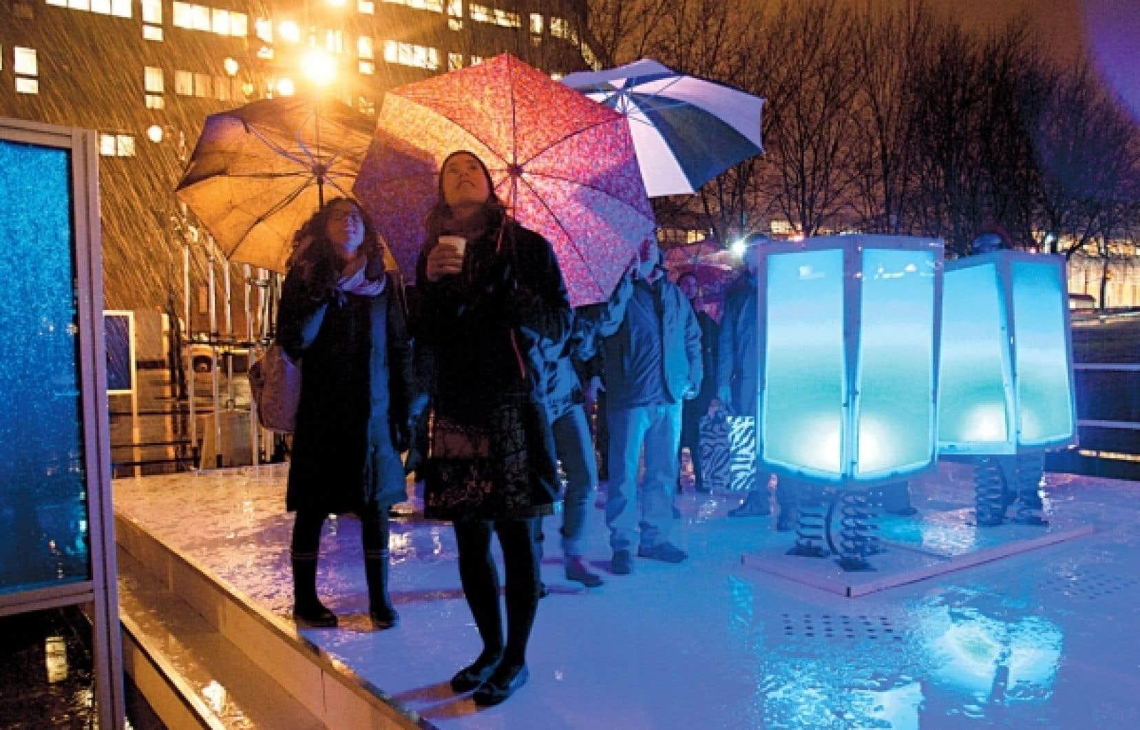 L'événement Luminothérapie, à Montréal, en décembre 2011. Il n'y a de culture que par la volonté de la transmettre d'une génération à l'autre, estime Serge Cantin.