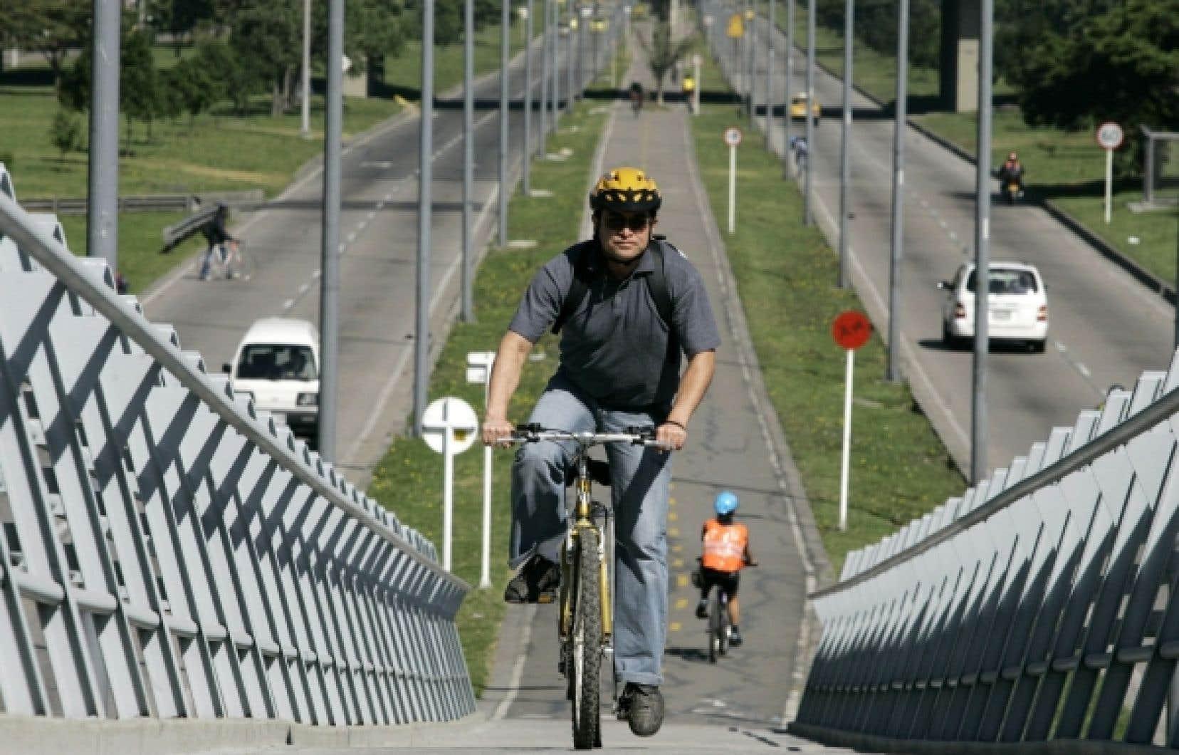 À Bogotá, les vélos sont rois.