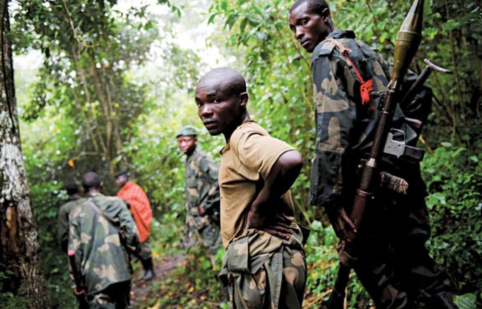 Des rebelles du M23 en juillet dernier près de Mabenga.