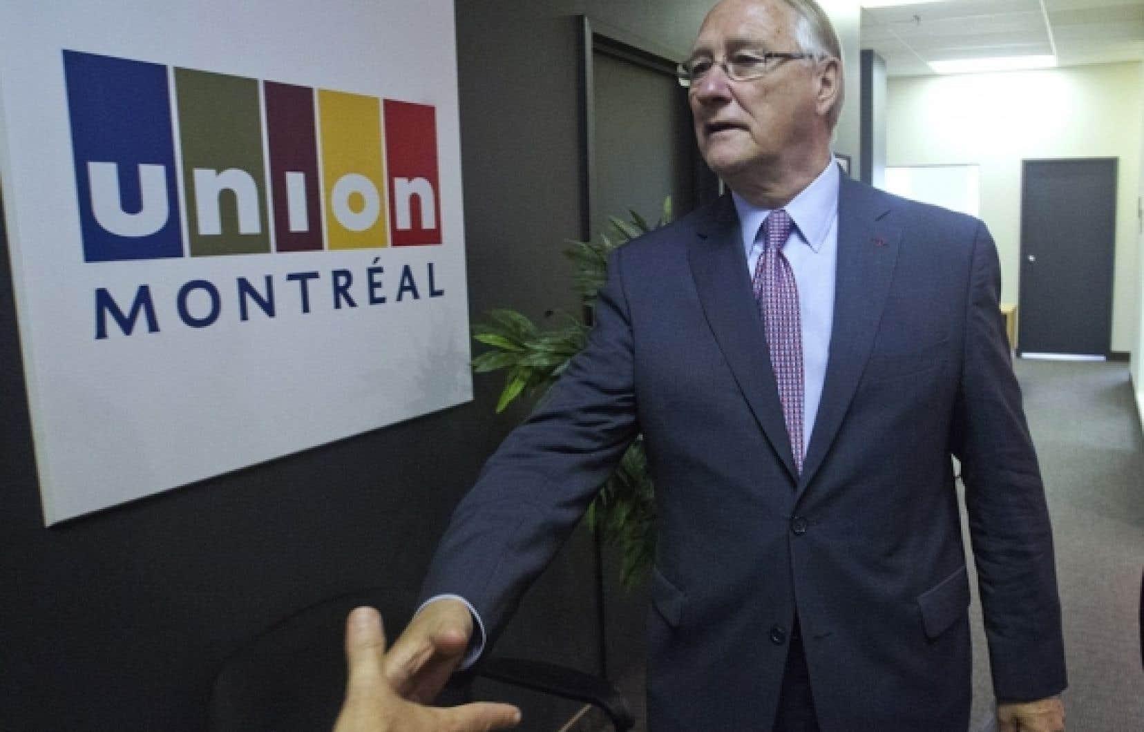 Les conseillers d'Union Montréal ont tous voté en faveur d'une déclaration d'appui au maire Gérald Tremblay.