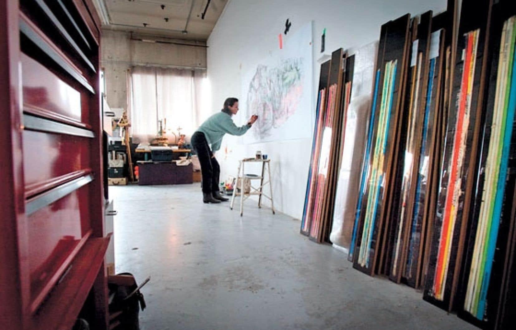 Les anciennes usines du quartier Saint-Viateur sont un écrin idéal pour les ateliers d'artistes.