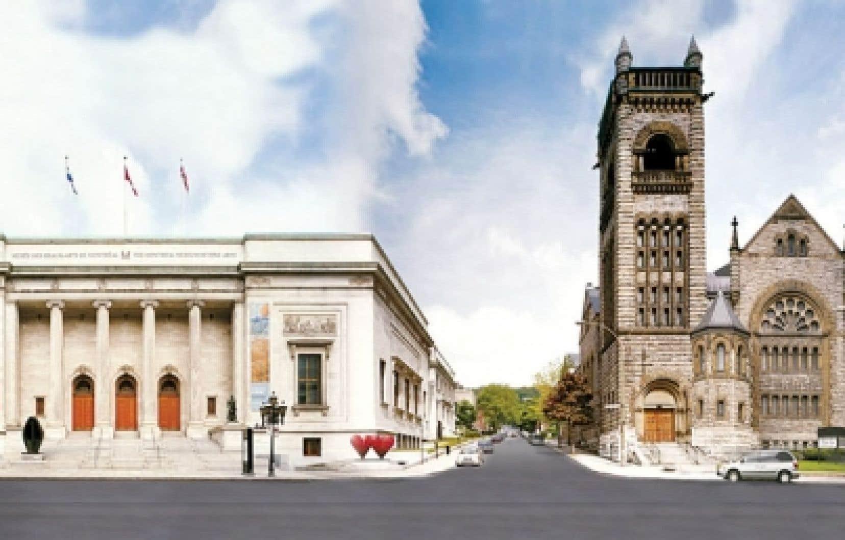 Le pavillon Michal et Renata Hornstein du Musée des beaux-arts de Montréal, sur la rue Sherbrooke