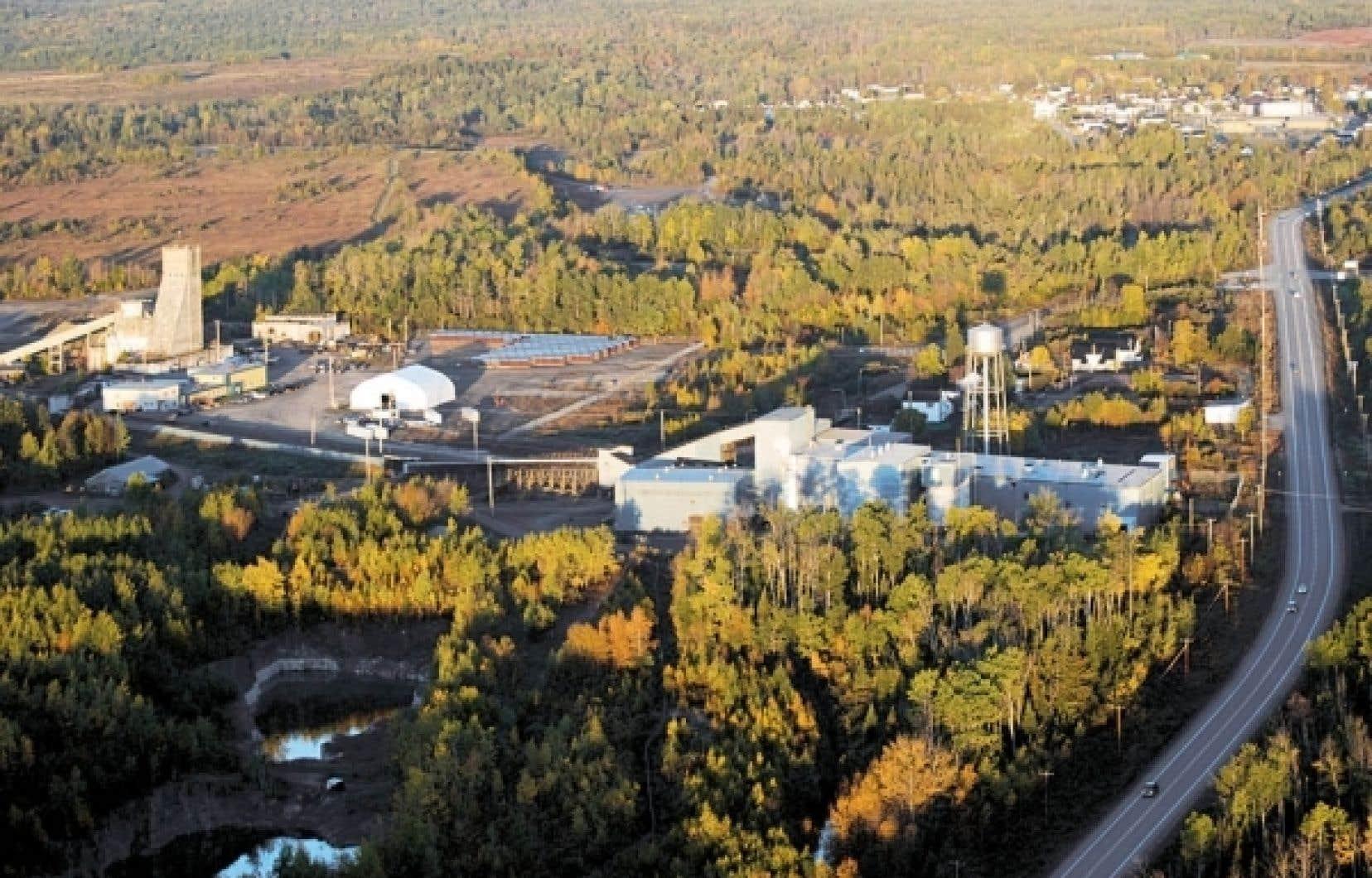 Les installations d'Osisko à Malartic.