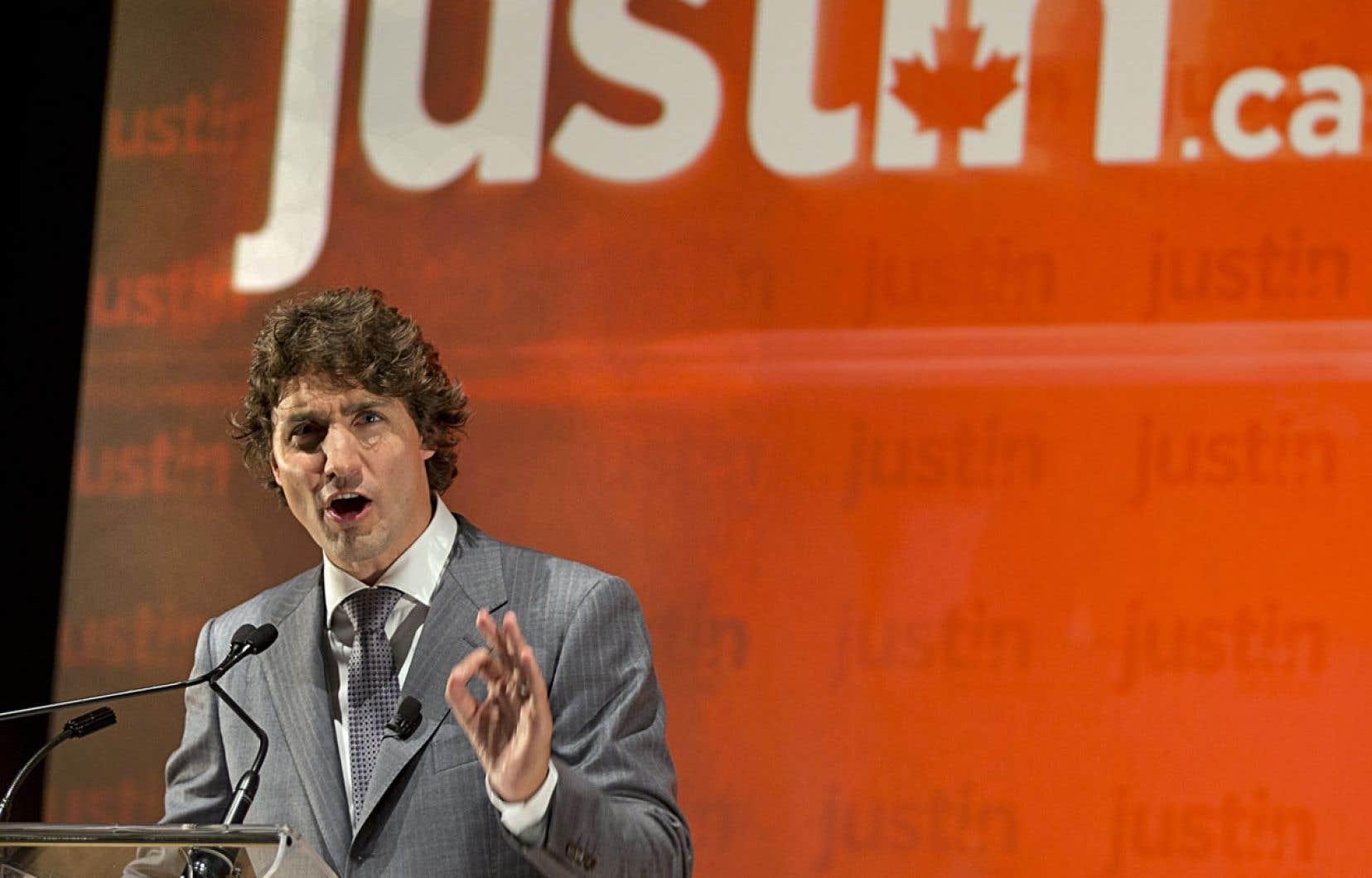 Avec Justin Trudeau comme chef du Parti libéral du Canada, la formation passerait ainsi d'une marginale troisième place dans les intentions de vote au premier rang, sur un pied d'égalité avec les conservateurs.