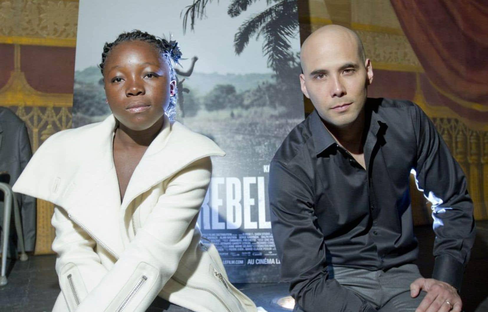 Rachel Mwanza, la vedette du film, et le réslisateurKim Nguyen.