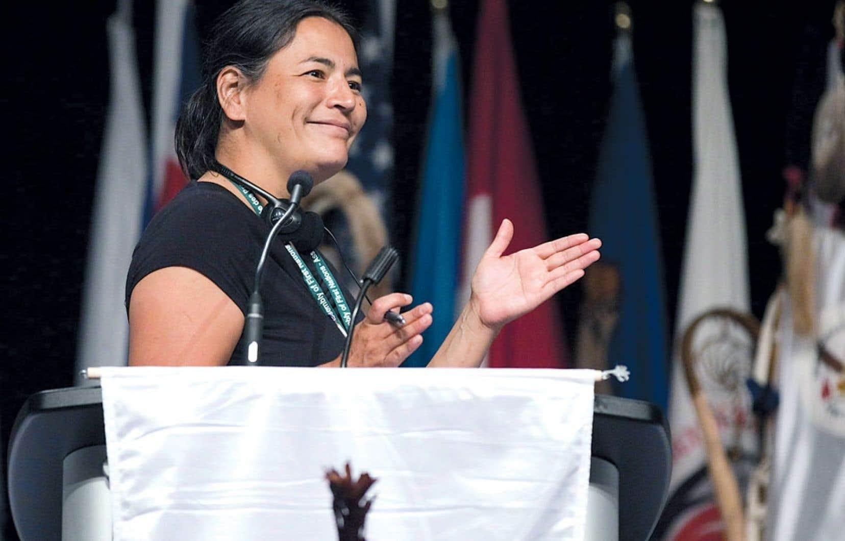«En éducation, il n'y a pas eu d'augmentation depuis 20 ans. Un enfant autochtone reçoit 2000 $ de moins par année qu'un enfant québécois», dit Michèle Audette (ci-dessus).