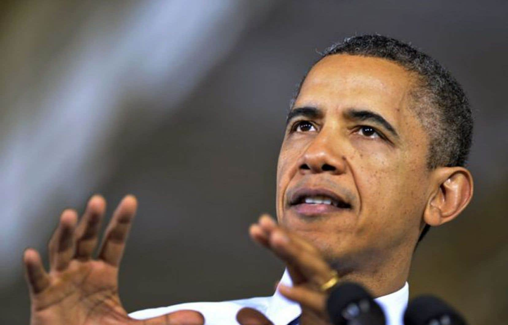 Barack Obama a affirmé les républicains refusaient l'idée que «les impôts des Américains les plus riches devraient augmenter un petit peu».