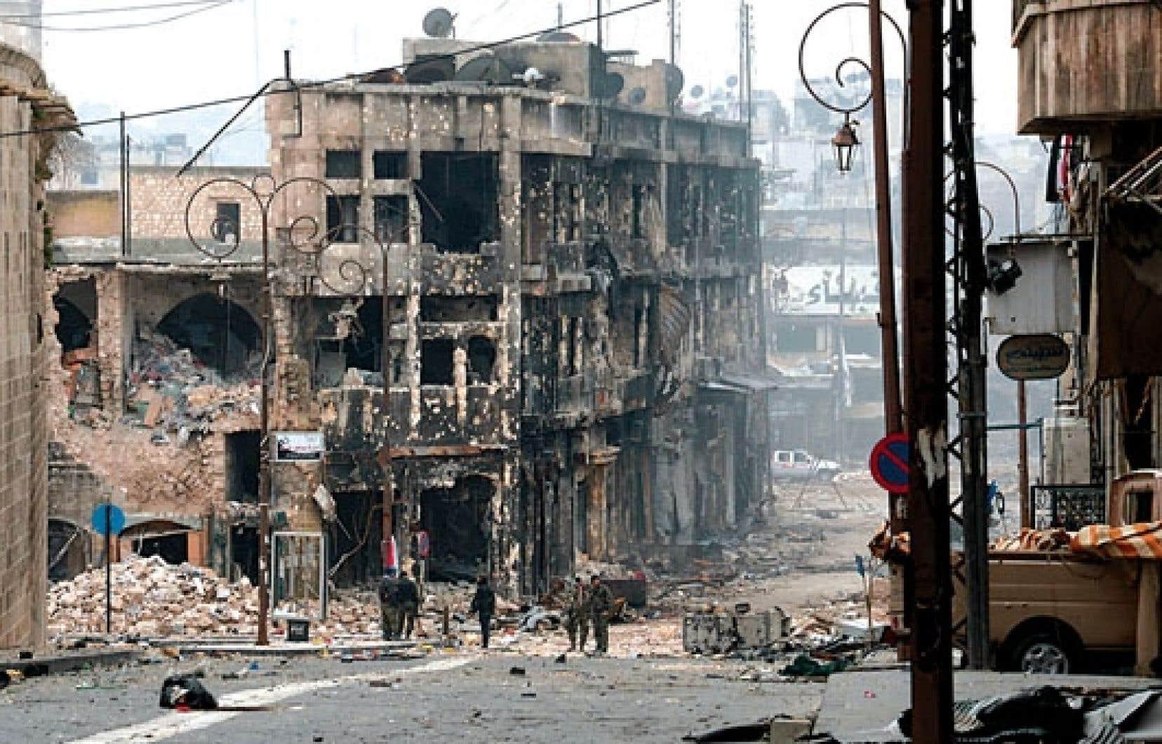 Alep a beaucoup souffert du conflit en cours.
