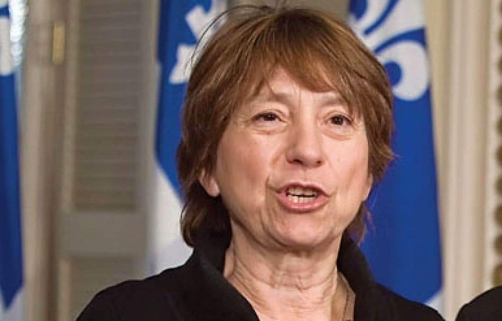 La députée de Québec solidaire, Françoise David