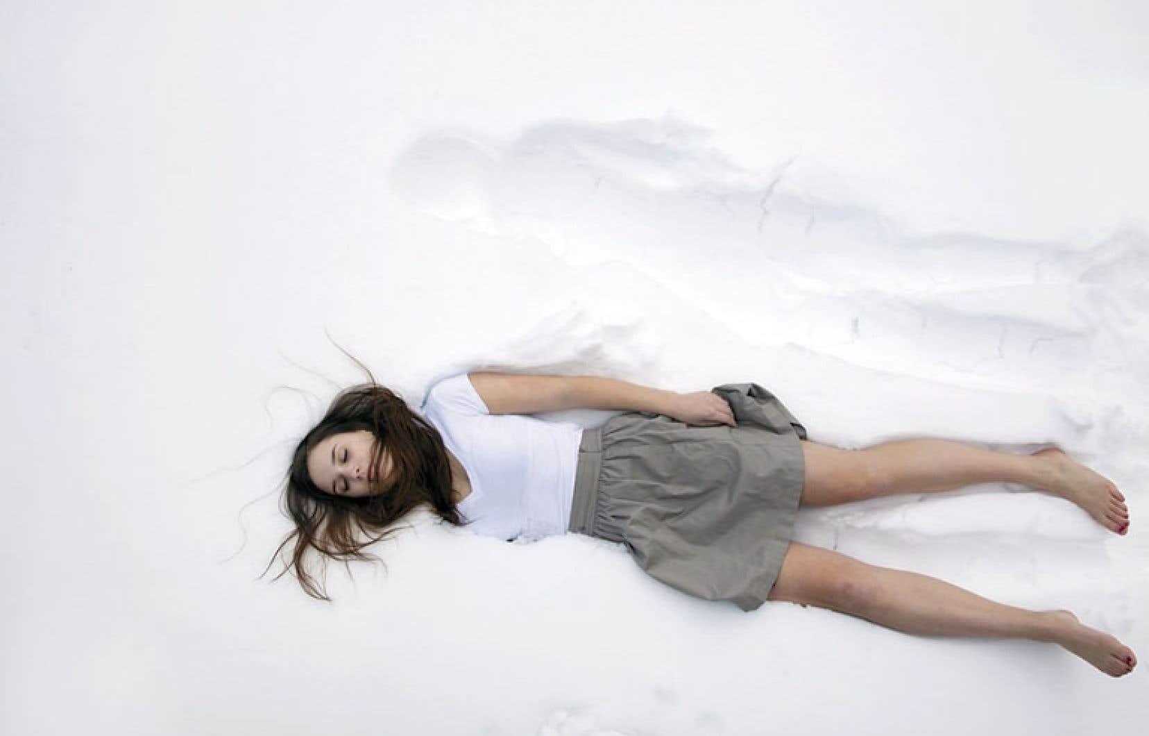Un extrait de La lignée, une œuvre d'Anne-Renée Hotte faisant partie de l'exposition La lenteur et autres soubresauts