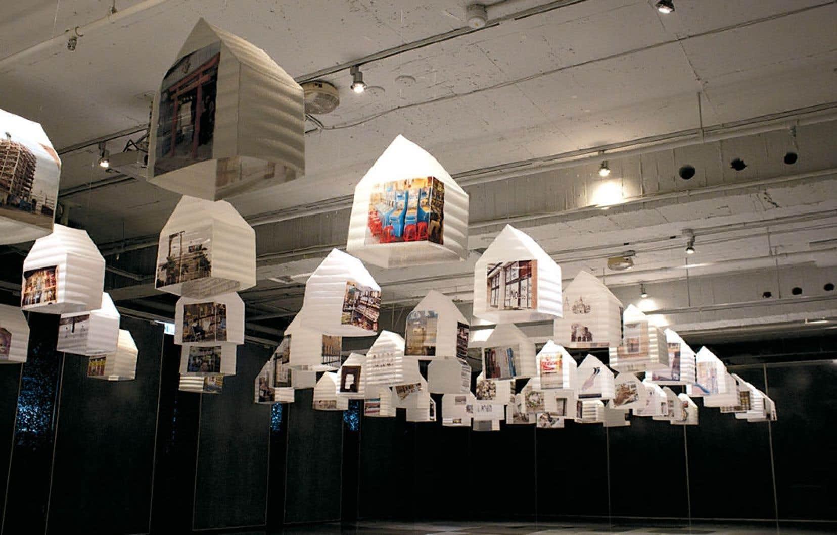 Mémoire en cours, une installation de l'artiste Yu-Hang Huang