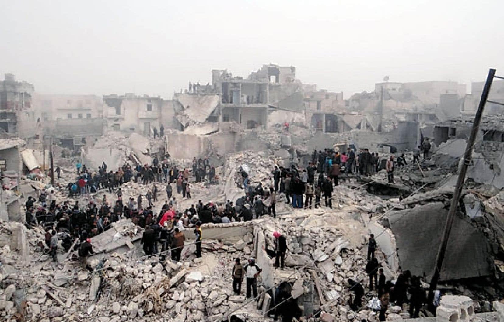 Alep aurait été l'objet d'un tir de missile lundi soir.