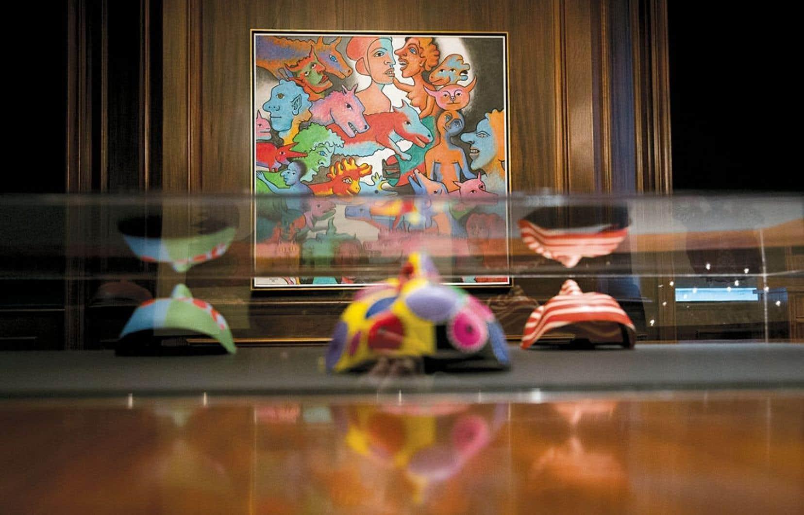 Le petit corpus d'œuvres exposé témoigne de la diversité artistique et de la créativité foisonnante qui traversera l'exposition Alfred Pellan. Le grand atelier.