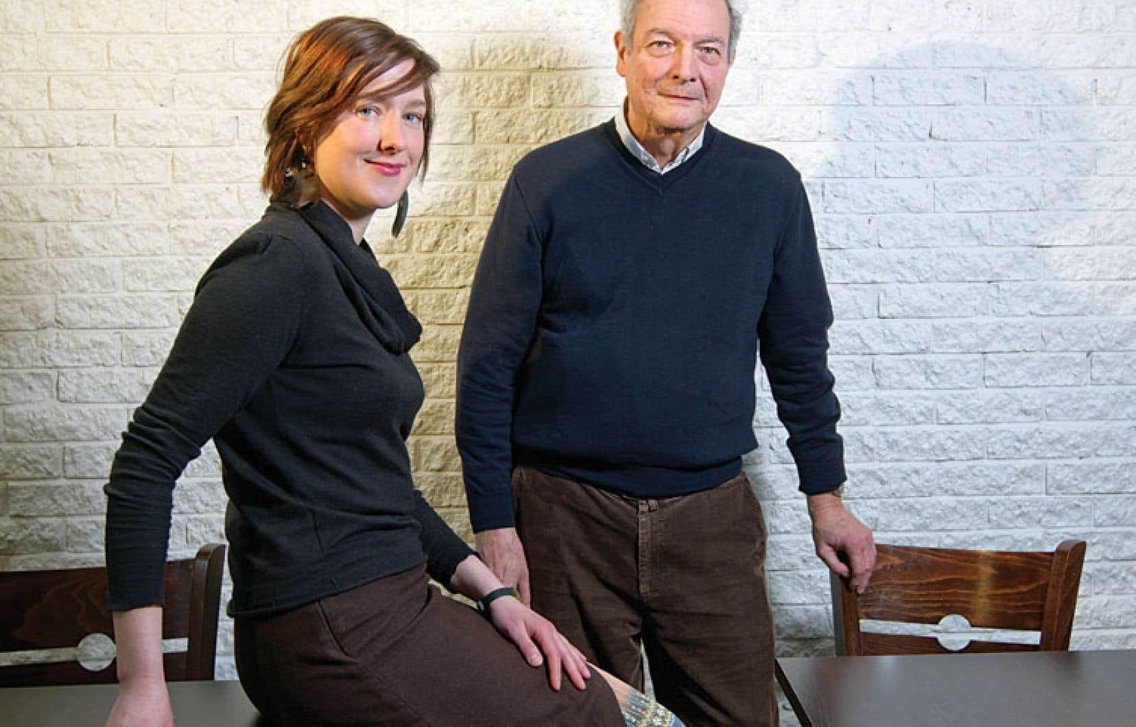 La documentariste Caroline Martel et l'ondiste Jean Laurendeau.