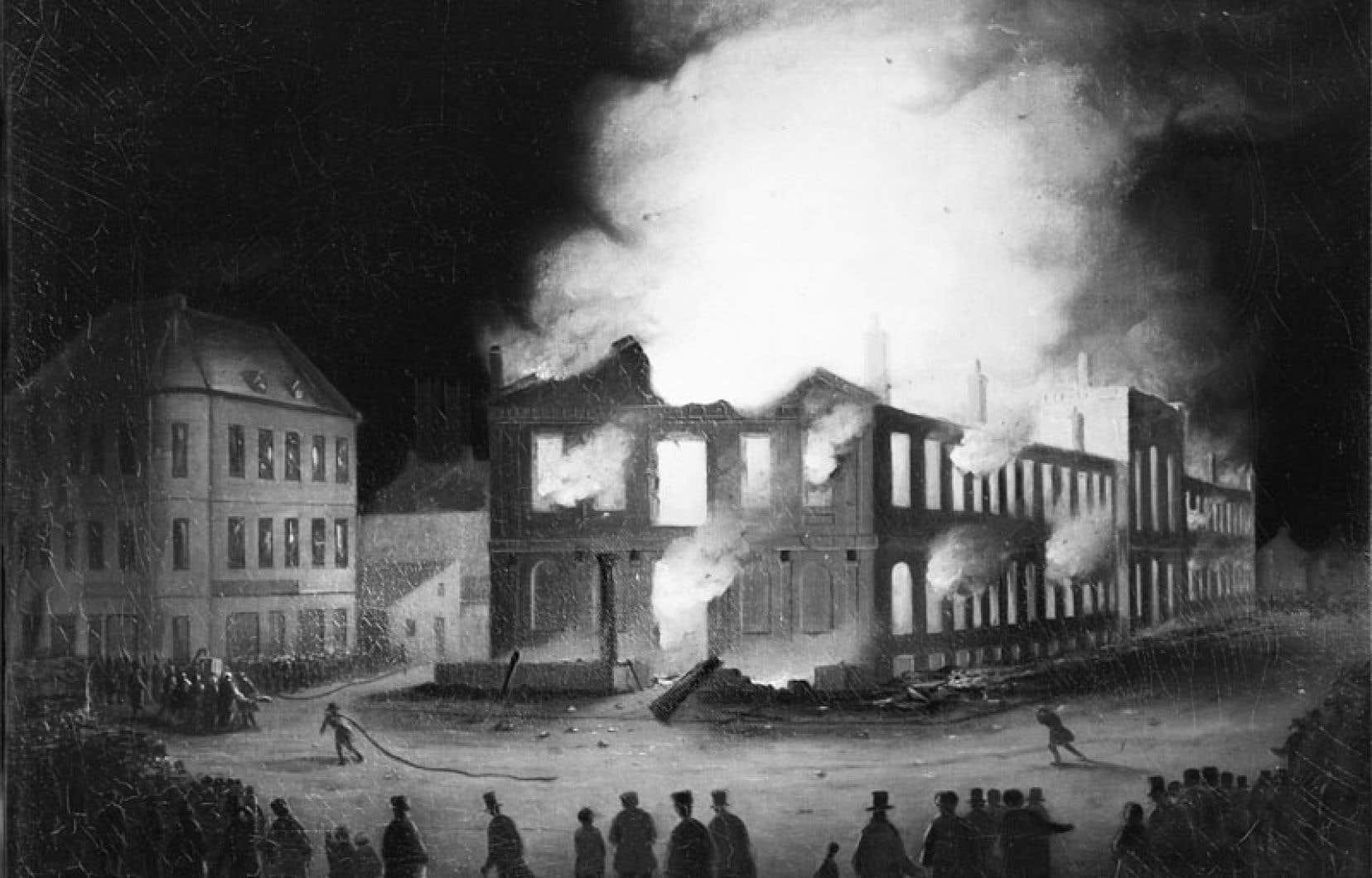 <div> L'enseignement de l'histoire culturelle, économique et sociale, bien sûr, mais aussi de l'histoire politique, est une condition de la vitalité démocratique d'une nation. Ci-dessus: l'incendie du Parlement du Canada-Uni à Montréal, en 1849.</div>