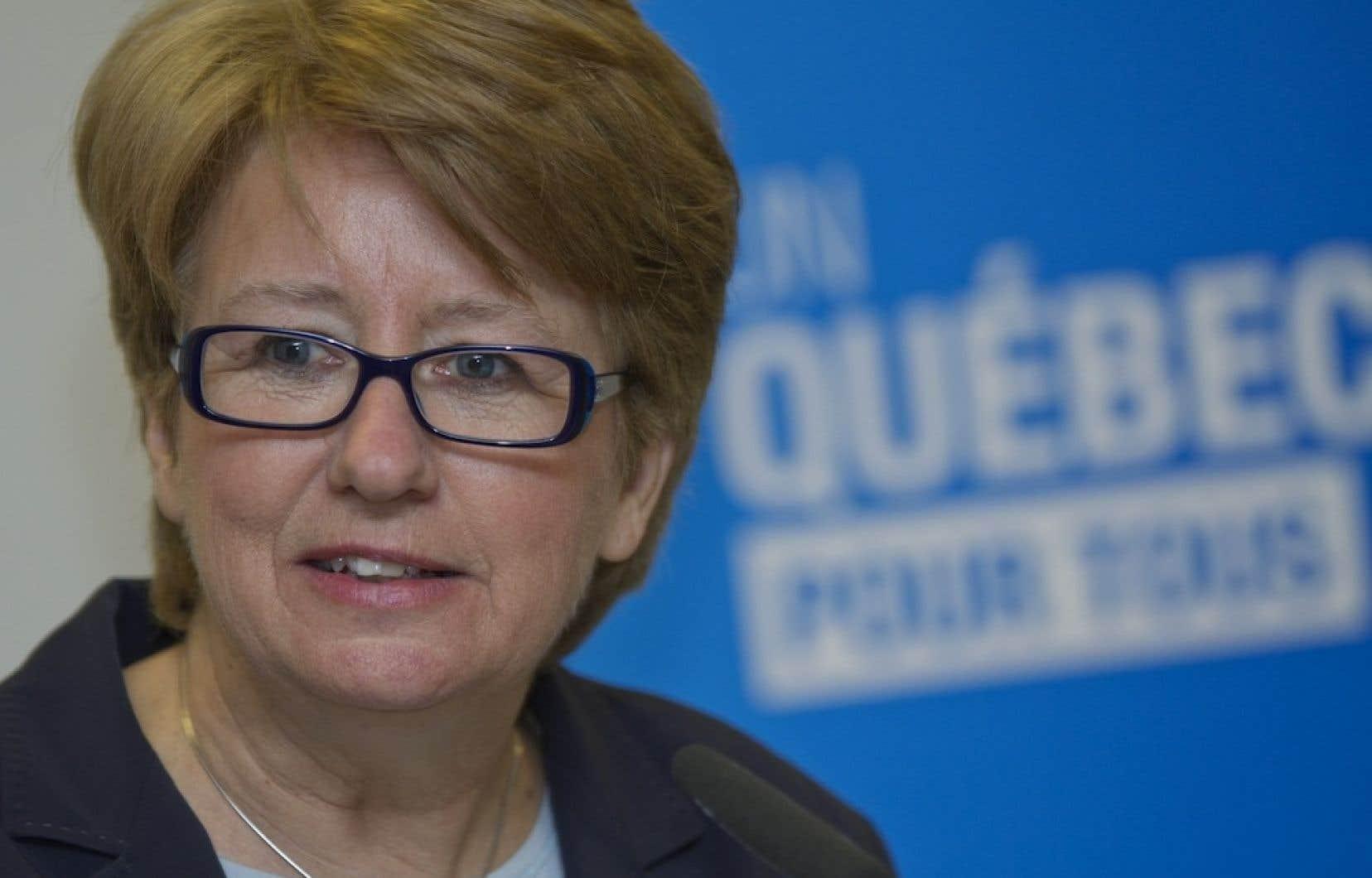 «Nous demandons l'exclusion du Québec de ce nouveau programme fédéral»,a dénoncé Agnès Maltais en point de presse vendredi matin.