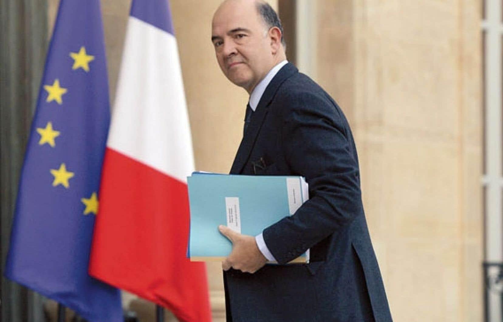 Le ministre de l'Économie, Pierre Moscovici se fait jovialiste: «Nous sommes sur la bonne voie, on est en train de réduire les déficits.»<br />