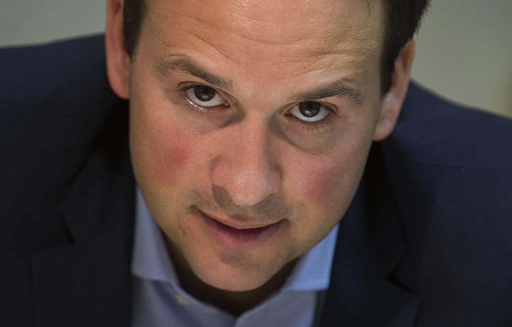 Le ministre des Affaires intergouvernementales et à la Gouvernance souverainiste, Alexandre Cloutier