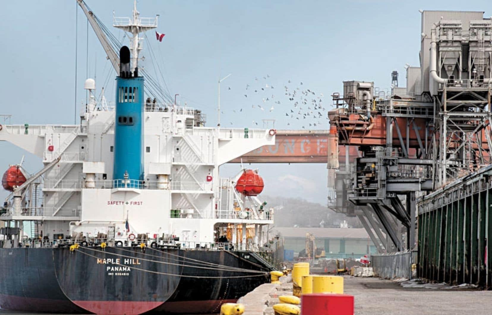 La source d'émission de poussière de nickel a été localisée au port de Québec.