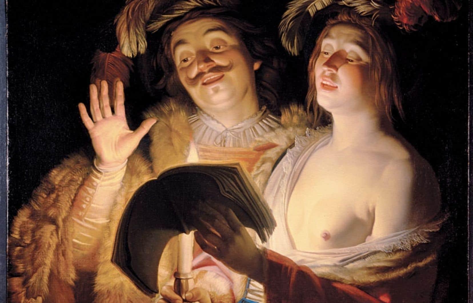 Le Musée des beaux-arts de Montréal a remis mardi Le duo (1623-1624), de Gerrit van Honthorst, à la famille Spiro, un tableau dont les aïeux Ellen et Bruno furent privés lors d'une vente forcée en Allemagne.
