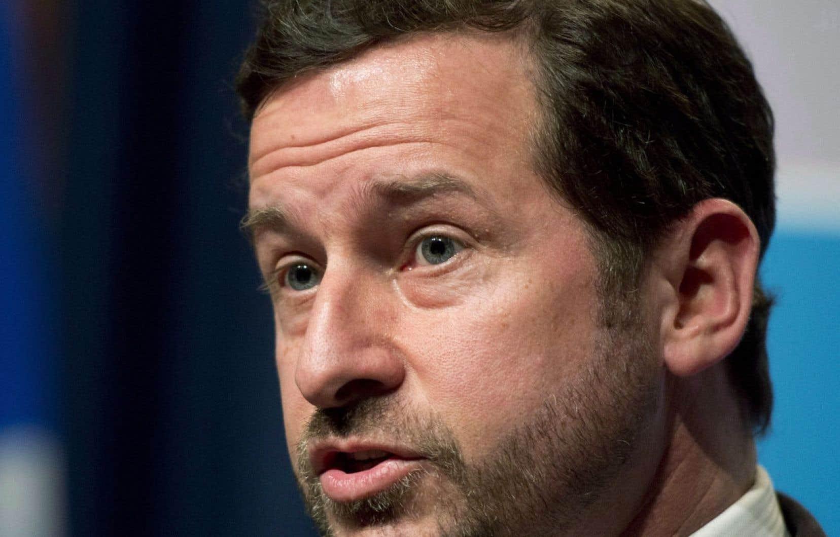 <div> Le ministre du Développement durable, de l'Environnement, de la Faune et des Parcs, Yves-François Blanchet</div>