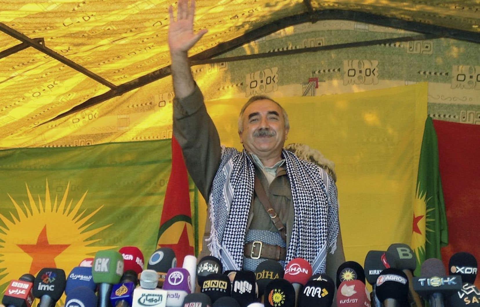 Le chef militaire du PKK, Murat Karayilan. Les combattants rebelles commenceraient à se retirer de Turquie vers leurs bases arrières du nord de l'Irak à partir du 8 mai.